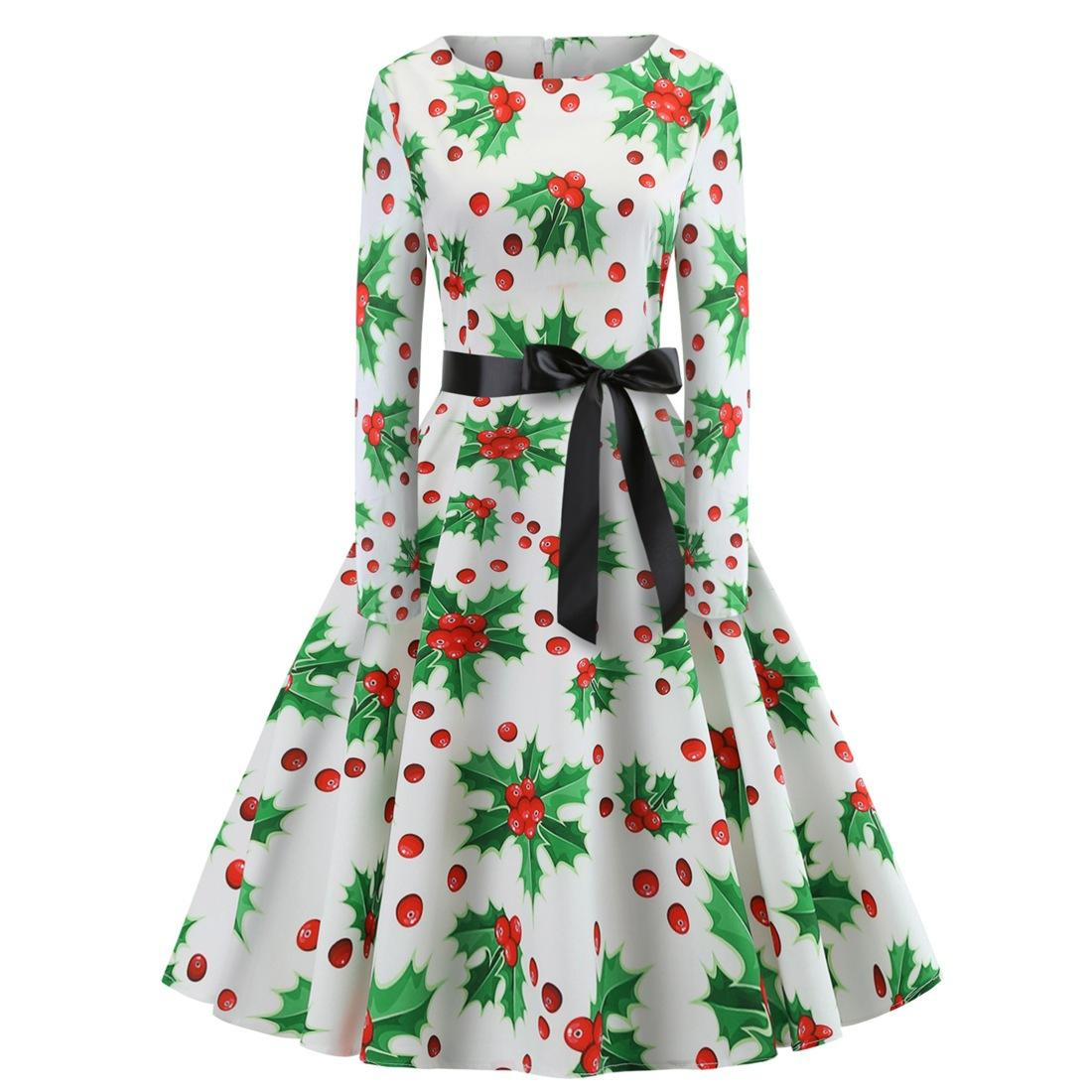 Kids' Clothes, Shoes & Accs. Green Floral Dress With White Ribbon