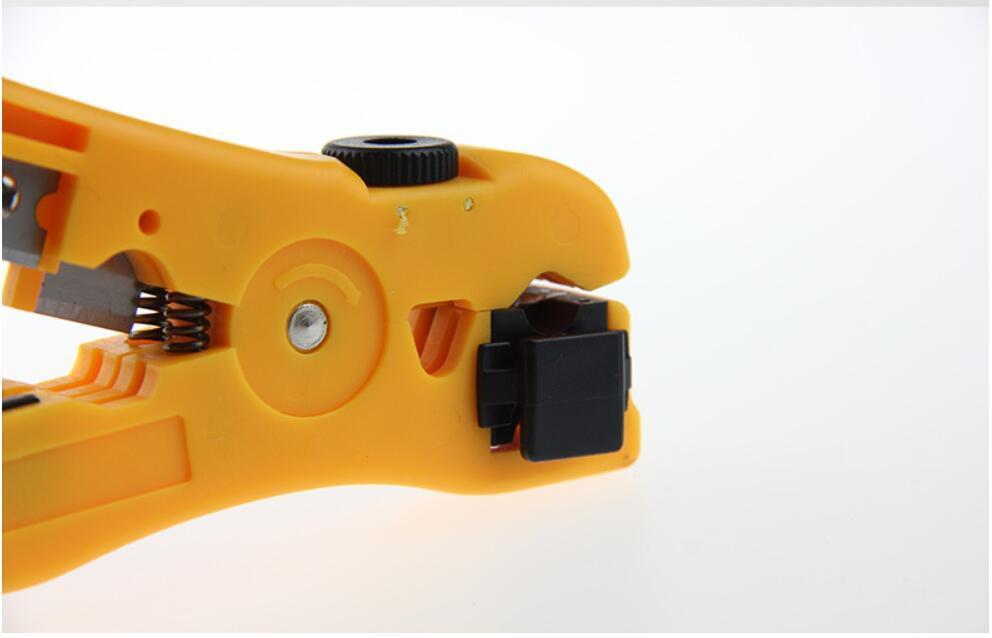 Pinze universali Cable Wire Stripper Jacket Strippers Cable Cutter Stripping Scissors Strumento Colore giallo Utensili a mano 200 pezzi