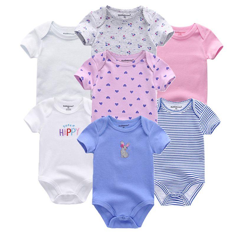 518e40e8f Newbron 2018 Summer Short Sleeve Baby Girl Rompers Set Baby Jumpsuit ...