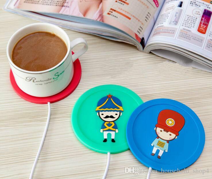 Mat Calefacción USB para Copas silicona Práctico de costa con Calentador USB para Café Leche Agua Calentador de tazas aisladas