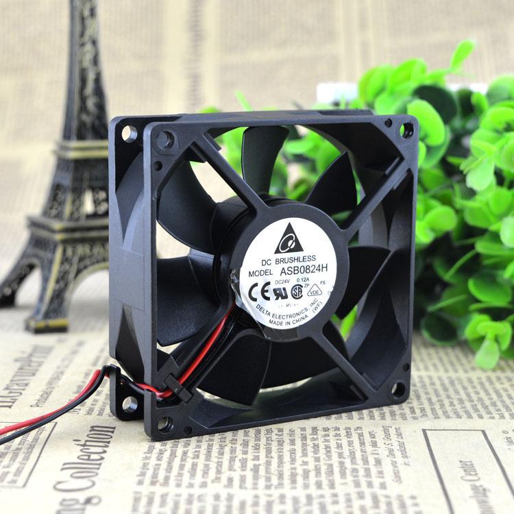 For original Delta ASB0824H 24V 0 12A 8CM 2-wire inverter cooling fan  80*80*25MM