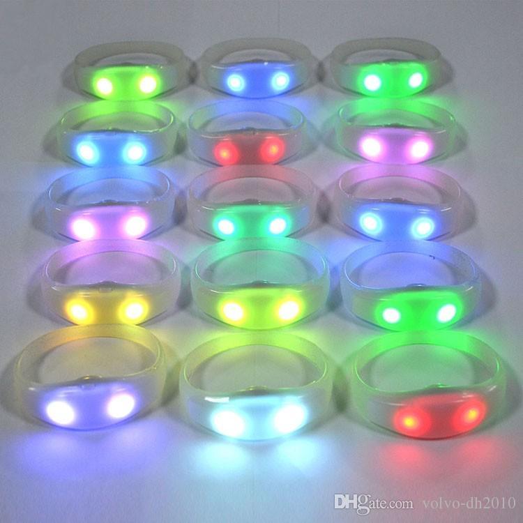 Pulsera que destella teledirigida de encargo LED, pulsera de la luz del silicón LED