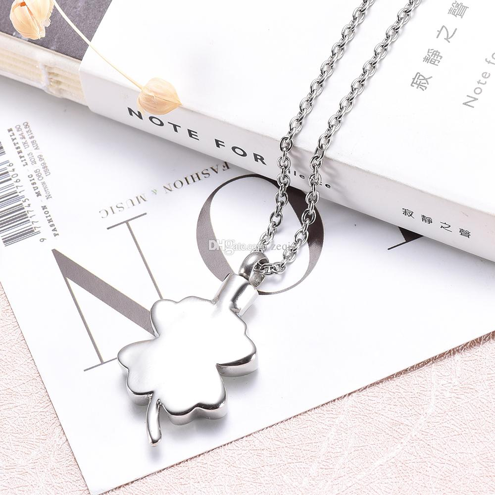 ijd8220 Top Sale Memorial Jewelry with Shiny Crystal Cremation Urn Pendant Necklace Ash Holder Collier Bijoux