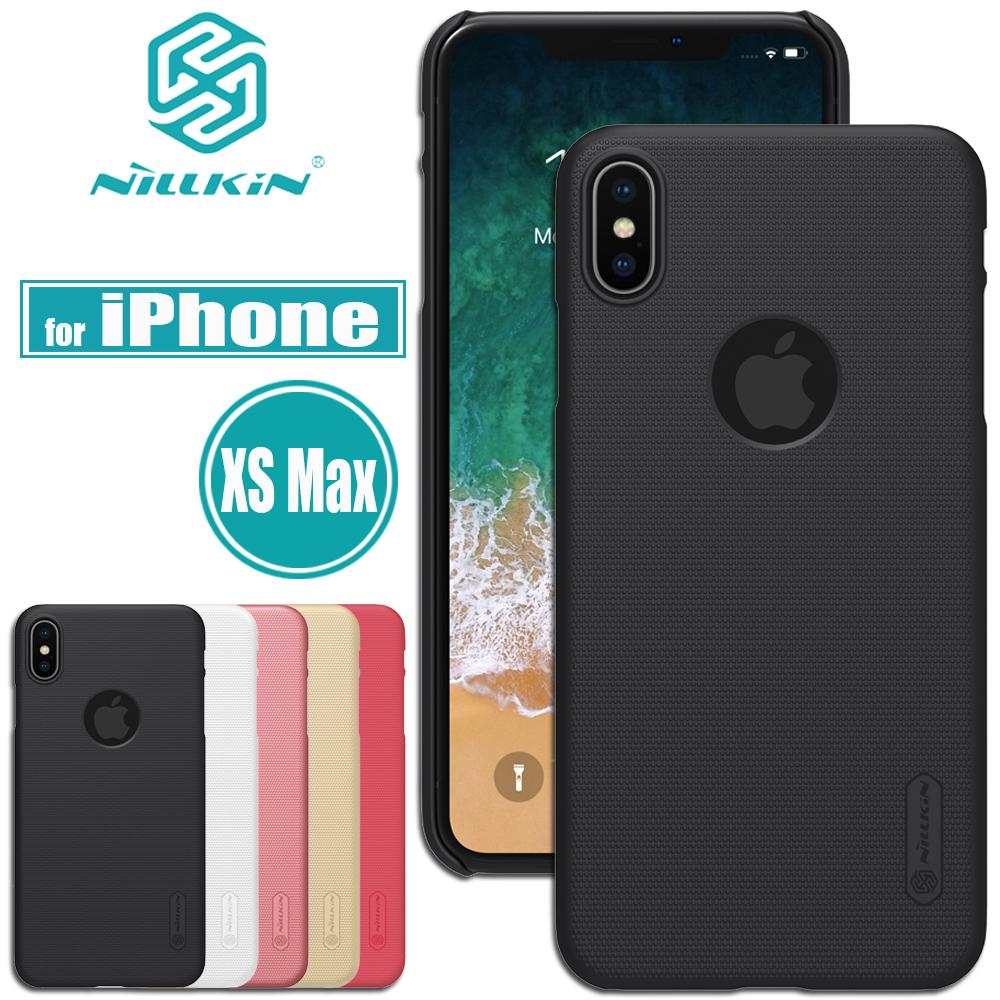 big sale 29eb1 08c81 Nilkin for iPhone XS Max Case Cover Nillkin Frosted Matte Hard PC Plastic  Smart Phone Bag Back Cases for iPhone XS Max 6.5''