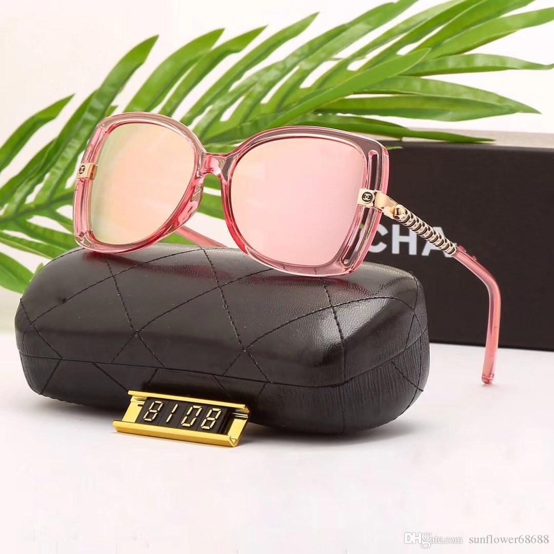 f0d633867fa9f Compre Moda 8108 Óculos De Sol Das Mulheres Homens Designer De Marca Óculos  De Sol Gafas De Sol Com Caso Mulheres Vintage Oculos De Sol Feminino Com  Caixa ...