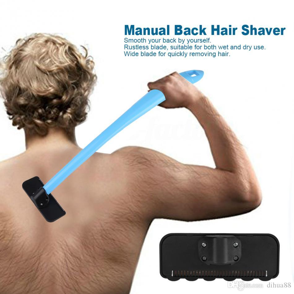 Online cheap men manual back hair shaver blade trimmer do it online cheap men manual back hair shaver blade trimmer do it yourself whole body leg back hair razor long handle big blade hair removal razor by dihua88 solutioingenieria Choice Image