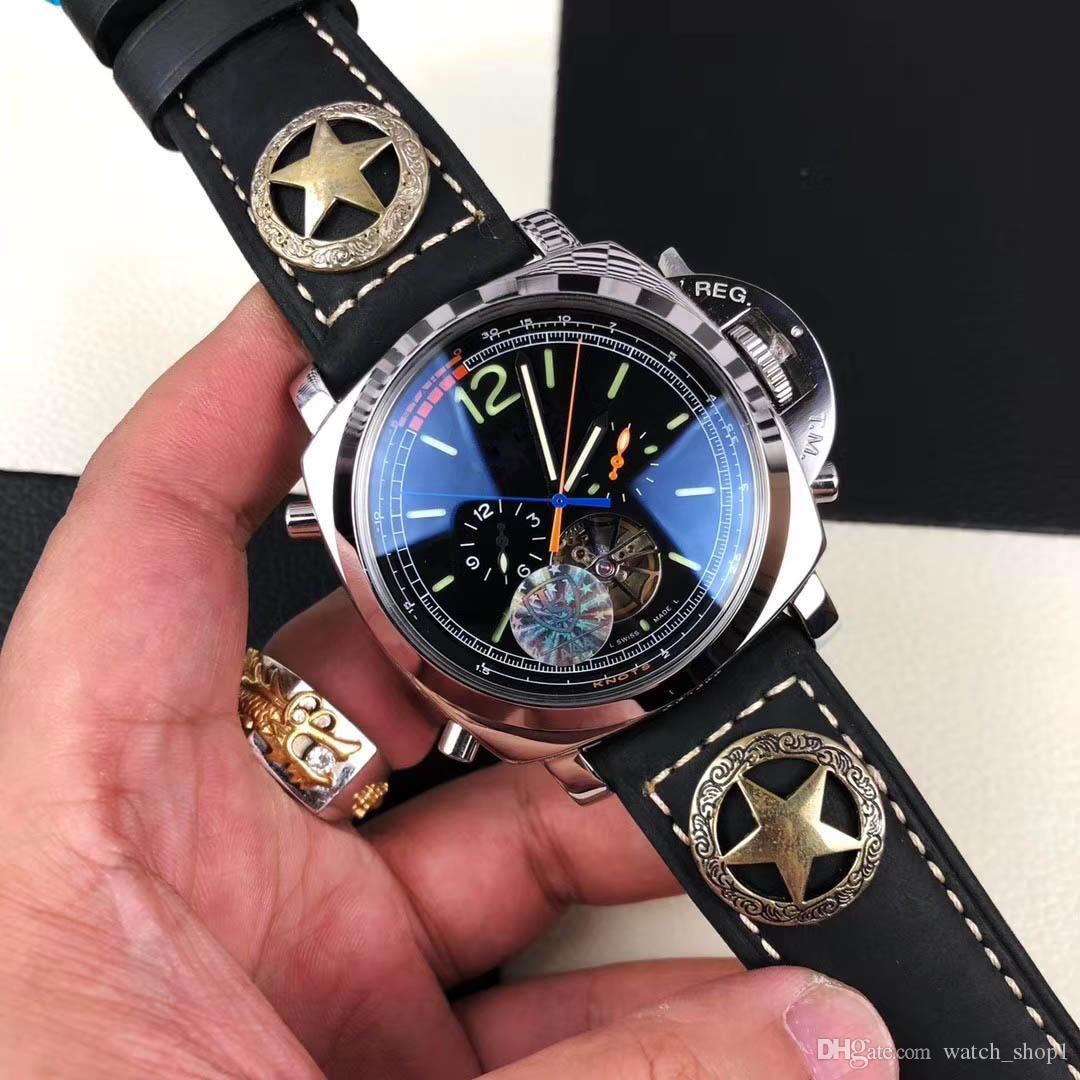 Acheter Montre De Luxe Pour Homme De Marque Italienne Top Montre Mécanique  Bracelet En Cuir De Vachette Édition Limitée + Étui En Acier Inoxydable 316  En ... ca2f9f2fc9c