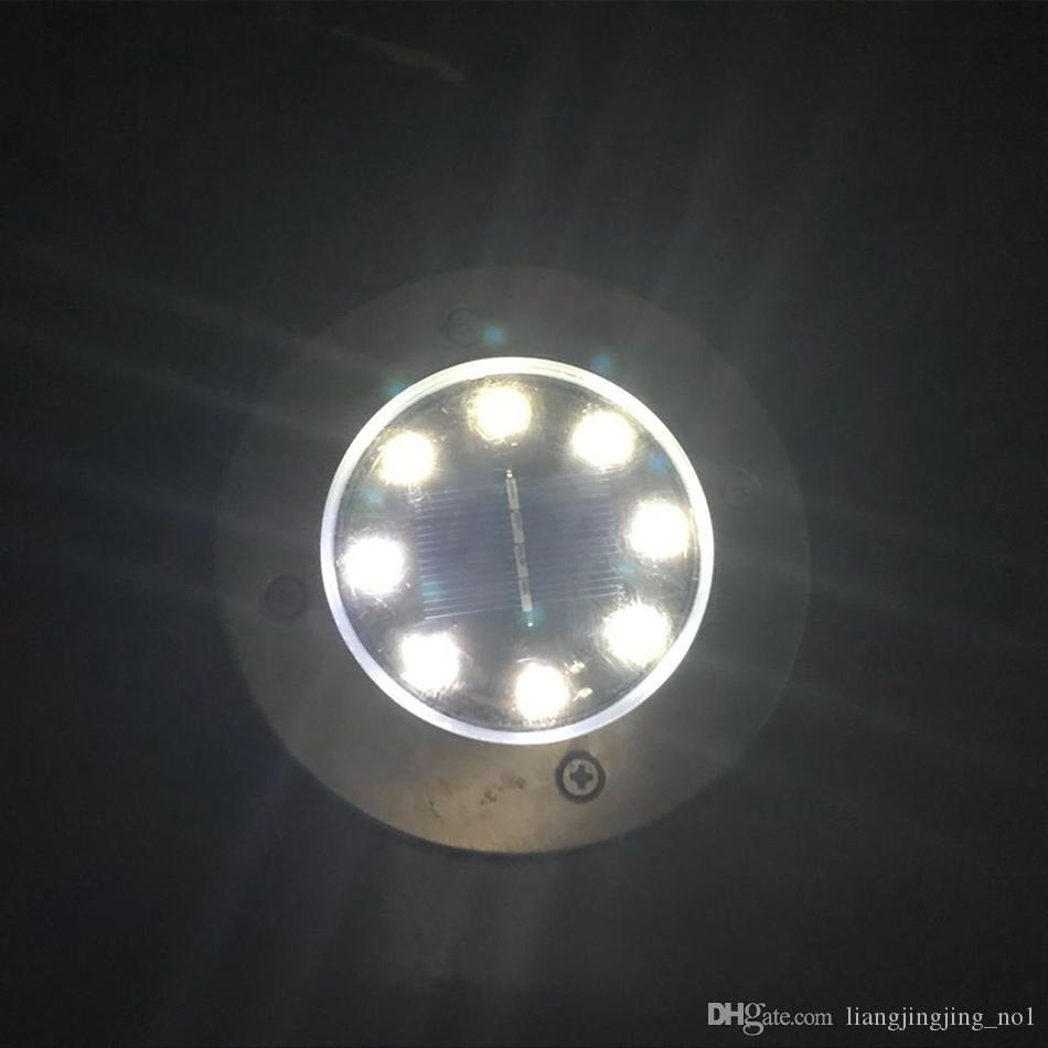 8 LED Solar Power Buried Light Under Ground Lamp Outdoor Path Way Garden House Decoration OOA4250