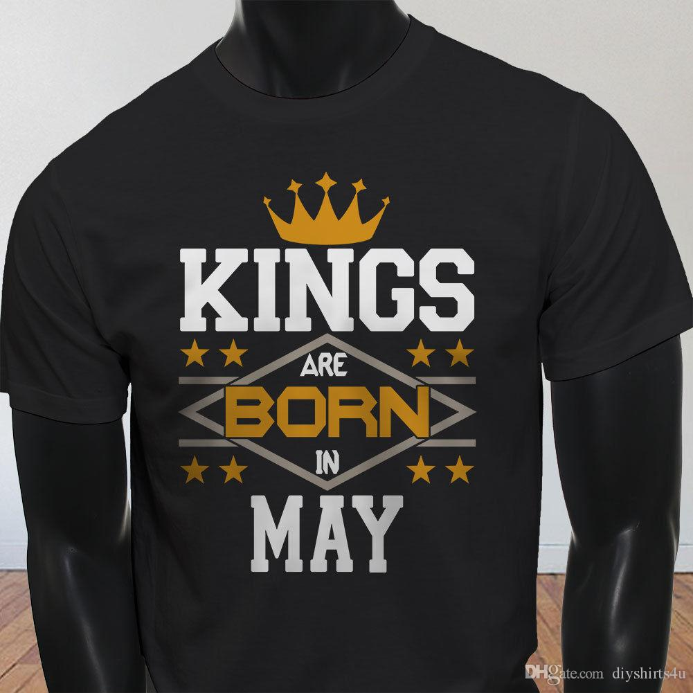 ab71ab80 Kings Born In May Factory Outlet T-Shirt T Shirt Lovers Men s Shirt Cotton  Crewneck 3XL Short Sleeve Custom Men T-Shirt