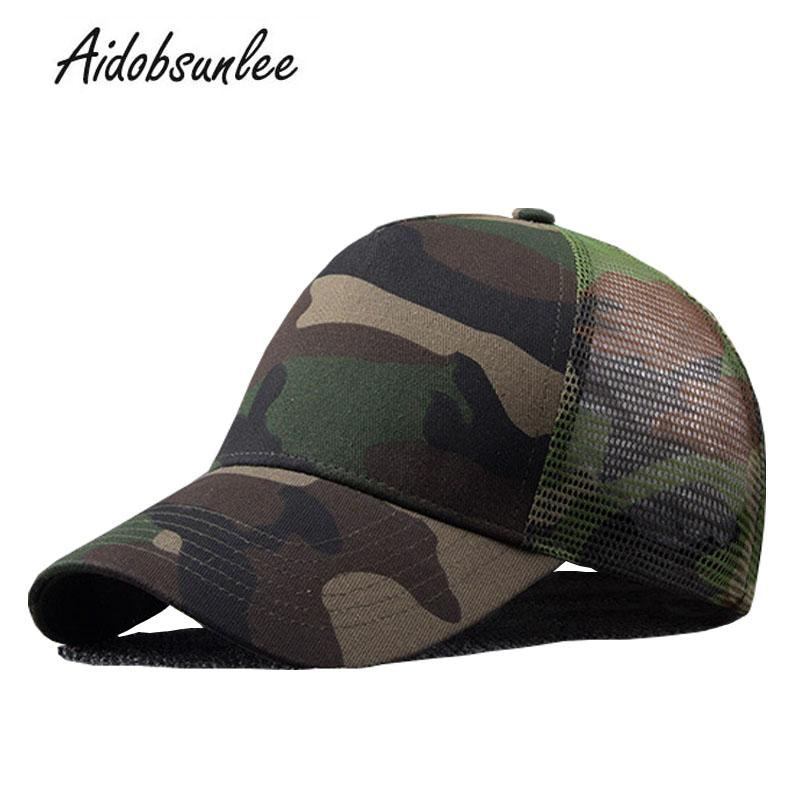 2018 New Arrival MEN S HATS Men Camo Baseball Caps Mesh For Spring Summer  Outdoor Camouflage Jungle Net Ball Base Army Cap Hot Mesh Hats Superman Cap  From ... 14a7b07b6db