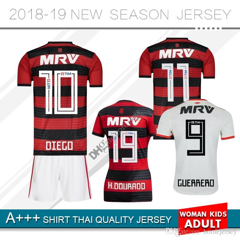 aac88f0451c 18 19 Flamengo mengo jersey 2018 2019 Flemish GUERRERO DIEGO VINICIUS JR Soccer  Jerseys Brazil home away sports football WOMEN kids kit shir