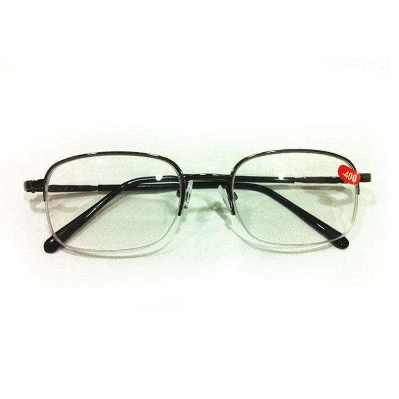 321d4675bbdc Men Women Myopia Reading Glasses Metal Half Frame Optical -100 -150 ...