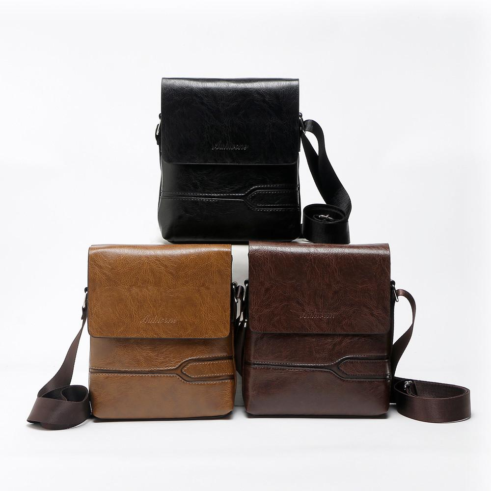 7ac8844181 NEW Brand Business Solid Handbags Shoulder Bag Leather Men Crossbody ...