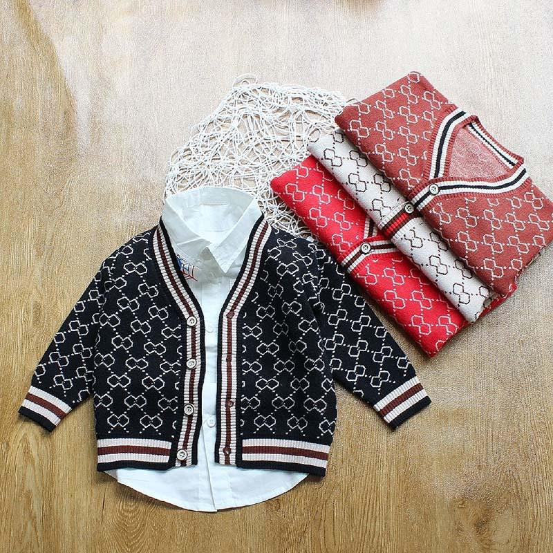 4c6d20c026a5 Autumn Brand Girls Boys Clothing Botton Sweater Blouse Top Knitted ...