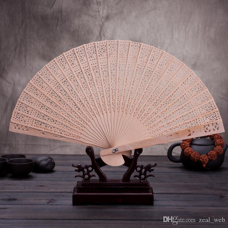 Cheapest!!!Sandalwood fans hand hold fan folding fans carved flower Home Decoration Arts and Crafts gift