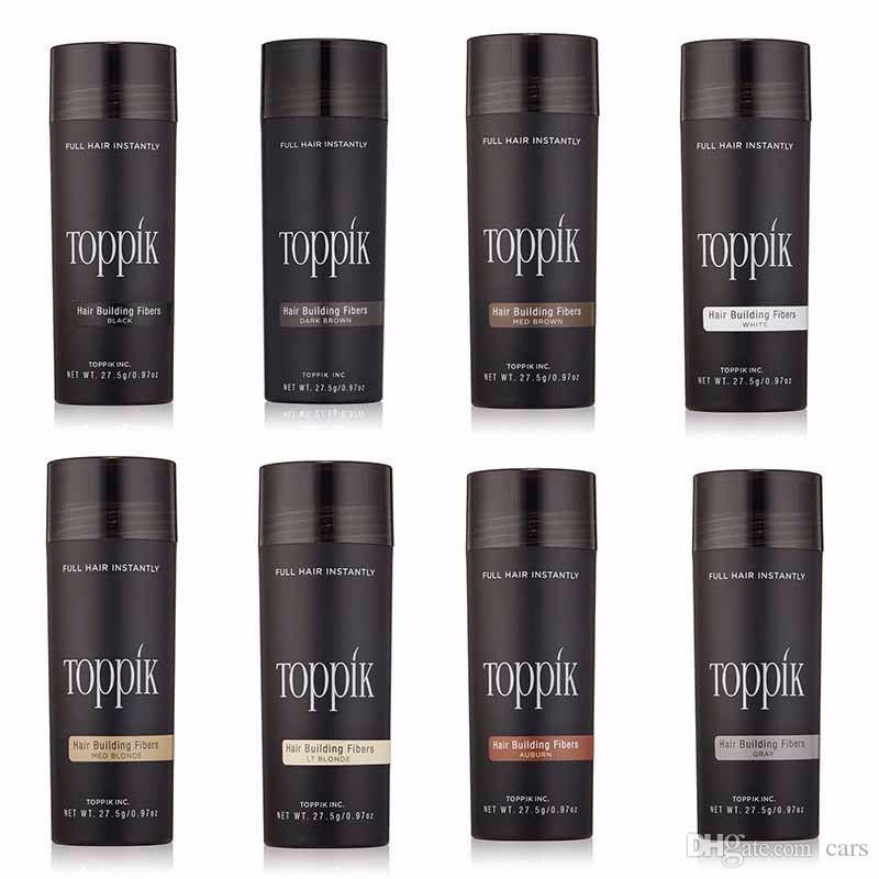 Dhl Freies Verschiffen Kosmetik 27,5g Toppik Haarfaser Keratin Pulver Spray Verdünnung Haar Concealer 10 farben