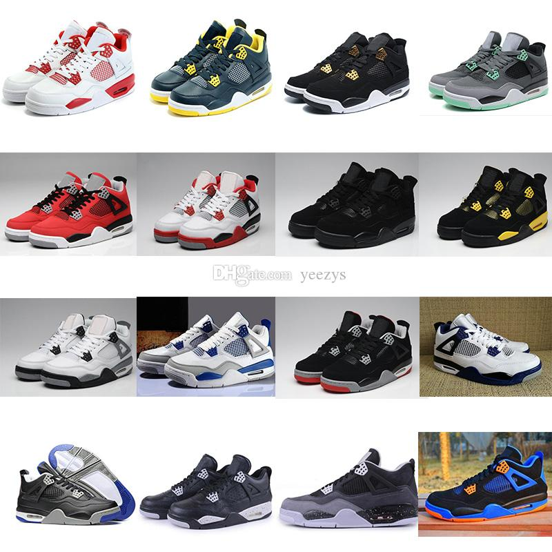 aa81f9aabe High Quality 4 4s White Cement Pure Money Basketball Shoes Men Women Bred  Royalty Game Royal Sports Sneakers Running Shop Sneakers Sale From Yeezys,  ...