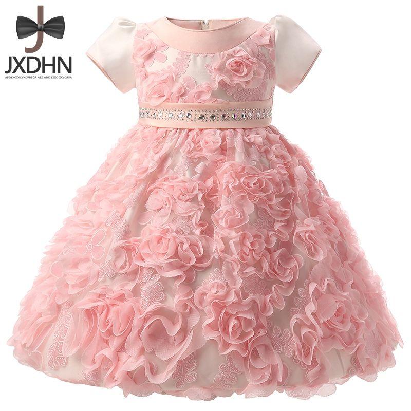 50a0de840 2019 Flower Newborn Princess Dress Wedding Baby Girls Ball Gown Infant  Girls 1 Year Birthday Dress Girl Clothes Kids Baptism From Jamani3, $36.21  | DHgate.
