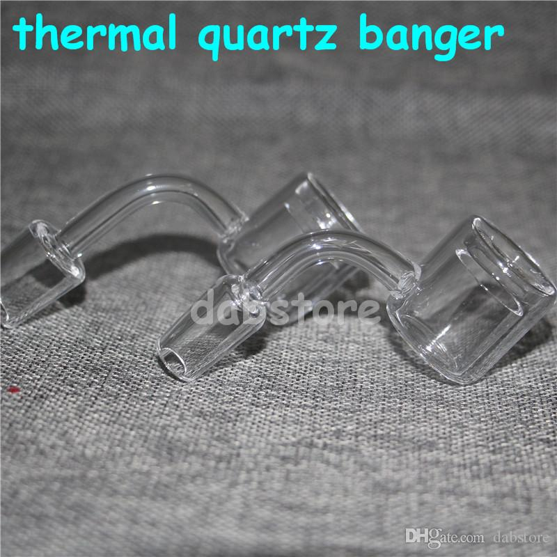 Thermal quartz nail high quality thermal quartz banger nail new model 90 degree 10mm 14mm 18mm male female for glass bong