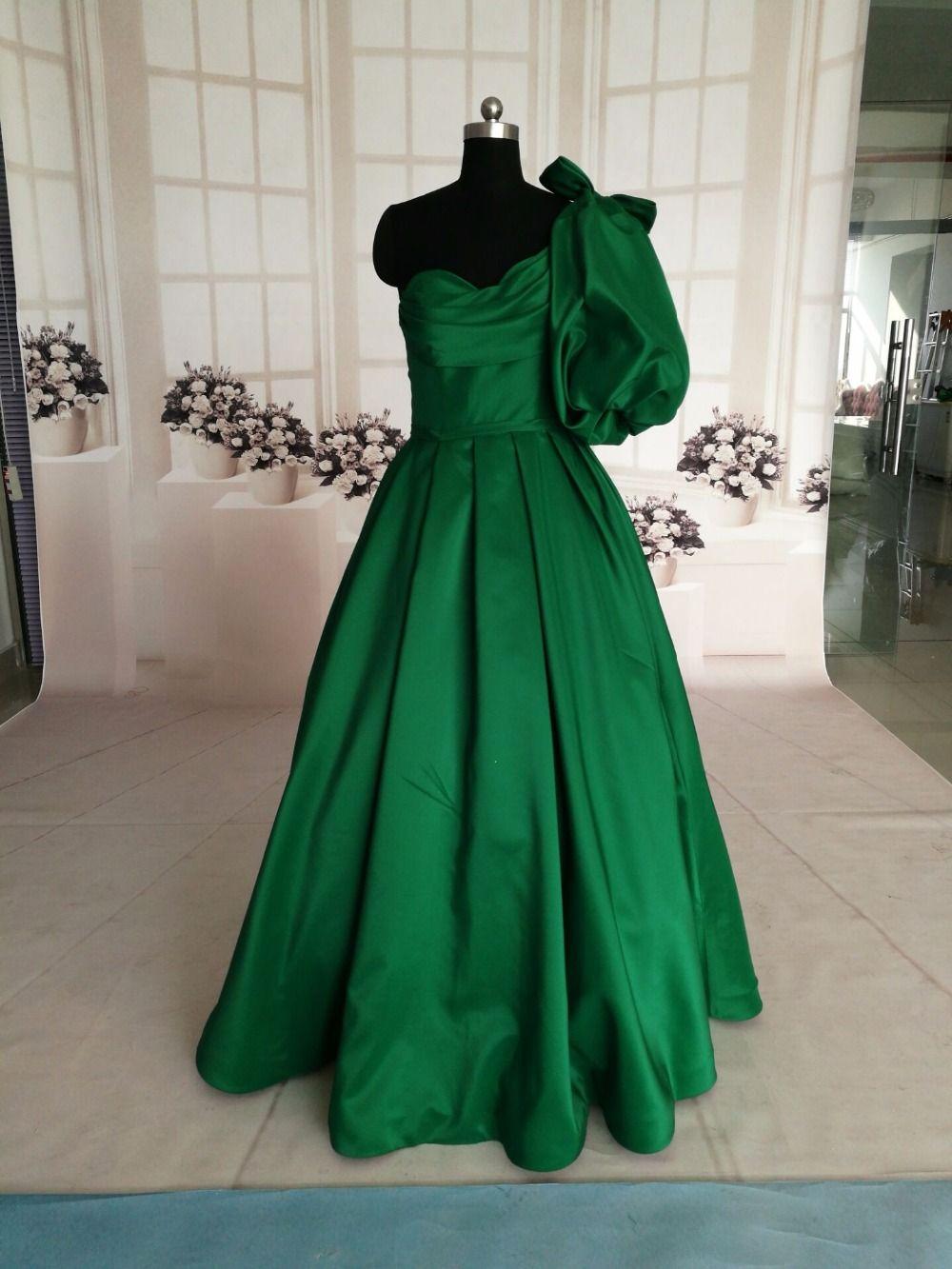 Emerald Green Prom Dresses 2018 Sexy Fashion Romantic Evening Dress