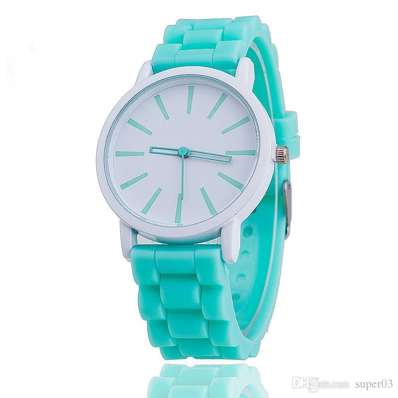 46288cf7d Compre Reloj De Pulsera De Silicona Para Mujer Reloj De Pulsera Para Mujer  Relogio Feminino Montre Femme 377 A $1.18 Del Super03   DHgate.Com
