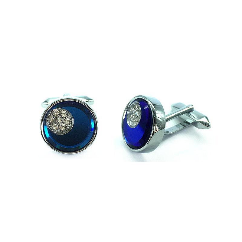 2018 nuovo cristallo decorare brillante gemello francese metallo argento moda gemelli regalo della festa nuziale Gentelmen gemelli accessori uomo CC