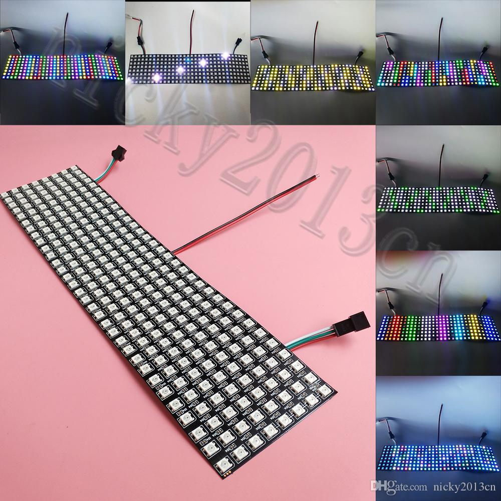 Ws2812b 1*8 8-bit Full Color 5050 Rgb Led Lamp Panel Light Black White Wholesale Cutting Supplies In Stock Utility Knife