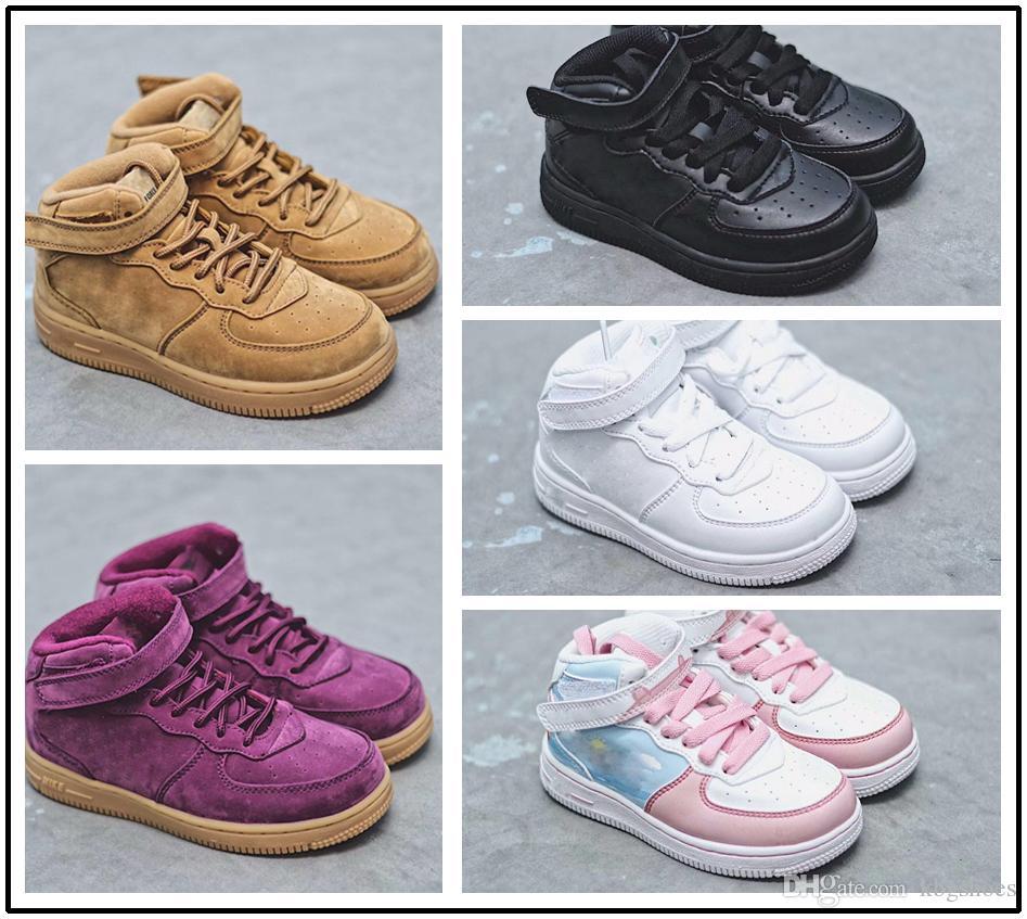 buy popular 0a0e2 37672 ... ebay acquista nike air force 1 af1 scarponcini da bambino classic af  sneakers trainersi neonata air