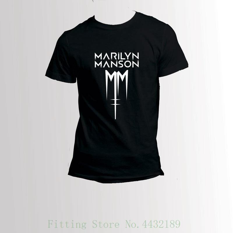 3727568cd4 Compre Marilyn Manson Classic Logo Camiseta Camiseta De Los Hombres Camiseta  De Manga Corta Con Estampado De Dibujos Animados Envío Gratis A  24.2 Del  ...