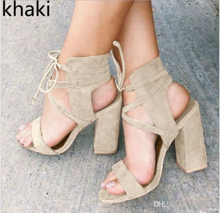 Sandalias De Las Mujeres Del Verano Sandalias De Tacones Altos Atractivos  Para Las Mujeres Zapatos Sandalias De Los Talones 10 Cm Gladiador 34 43  Zapatos De ... 573758e94fd7