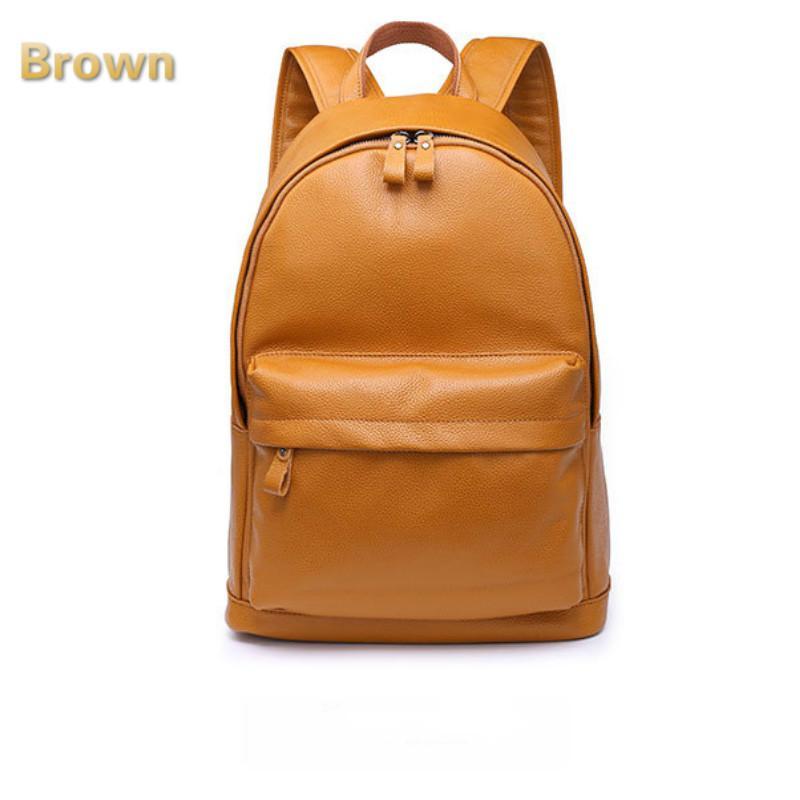 f253b05aa63b Classic Real Leather Campus School Rucksack Travel Backpack Bookbag Black  Wholesale Handbags Cheap Handbags From Berchirly