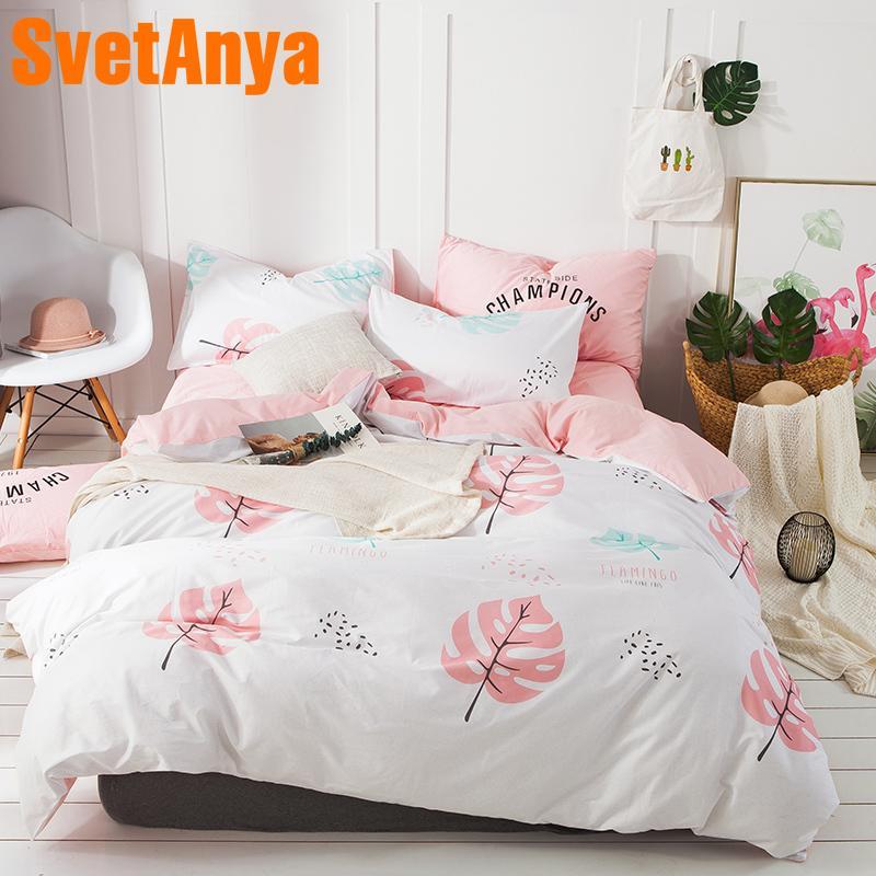 0025237cb10f Svetanya Ins Hot Sale Sheet Pillowcase Duvet Cover Sets 100% Cotton Bed  Linens Twin Double Queen King Size Bedding Set Designer Comforter Sets King  Size ...