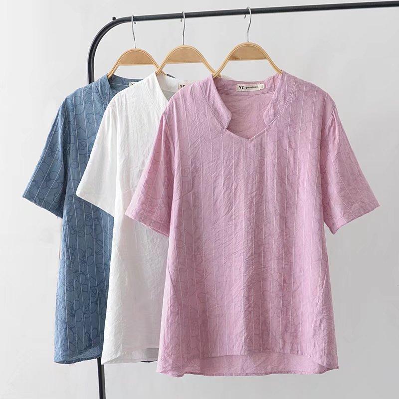 fe8d11d7635 Oversized Plus Size Dark Flower Striped Women T Shirt Blue White T Shirt  Casual Women Tops Tshirt Summer Tee Shirt Femme 4XL Biker T Shirts Make  Your Own T ...