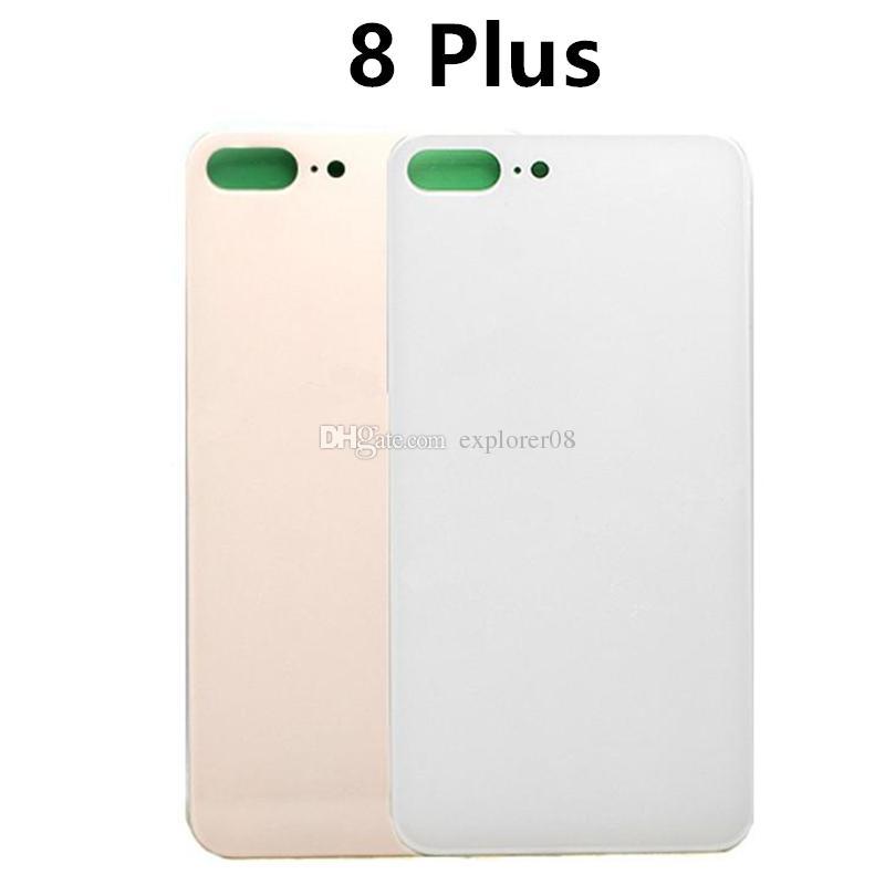OEM Für iPhone8 + iPhone 8 Plus 8 Plus X Zurück Batterieabdeckung Tür Rückseite Glasgehäuse Mit Aufkleber Ersatz 5 STÜCKE
