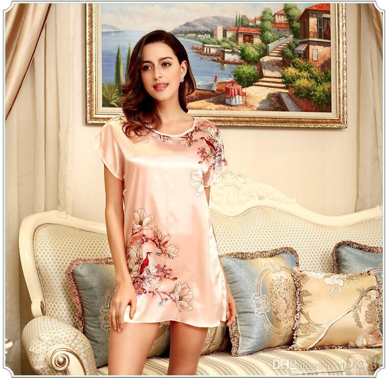 Brand Robe Bathrobe Satin Lace Silk Robes For Womens Sleepwear Sexy White Pink Plus Size Women Bath Robe Dressing Gowns