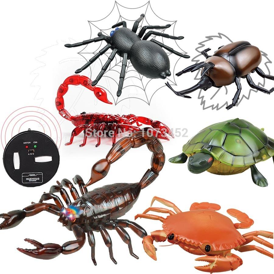 Infrared Simulation Funny Remote Control Animals Rc Scorpion Spider Basic Robotics Ir Nail Crab Tortoise Juguetes Que Caminan Gift Toy For Boy Robots Cheap