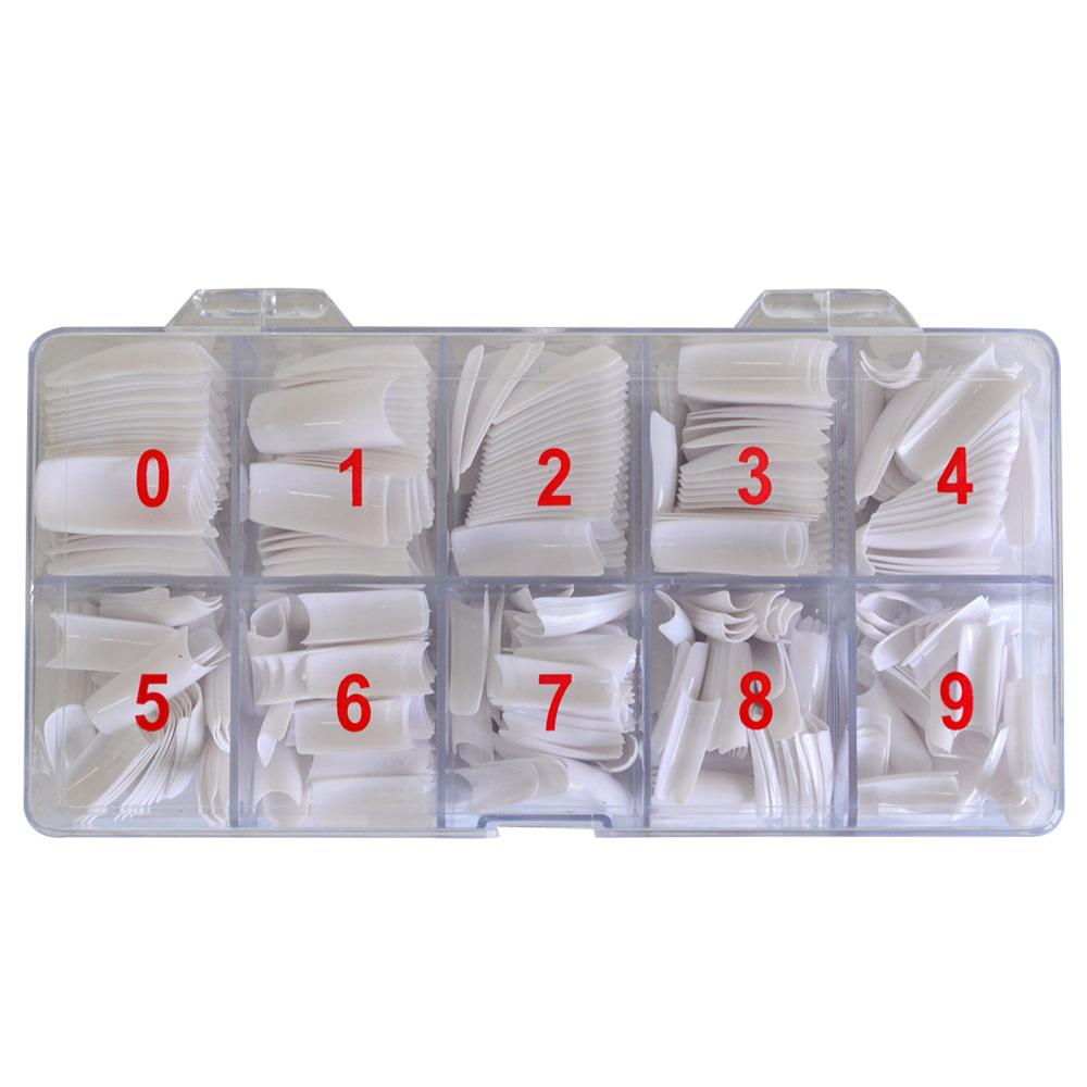 China False Suppliers /Sets Half Cover Tips White/Transparent ...
