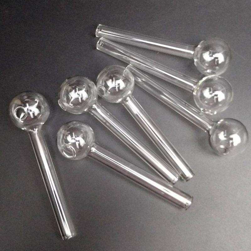 110MM بيركس زجاج النفط الشعلة التدخين مواسير التعامل مع النفط الشعلة زجاج الأنابيب أنابيب أنبوب للتدخين منشفة