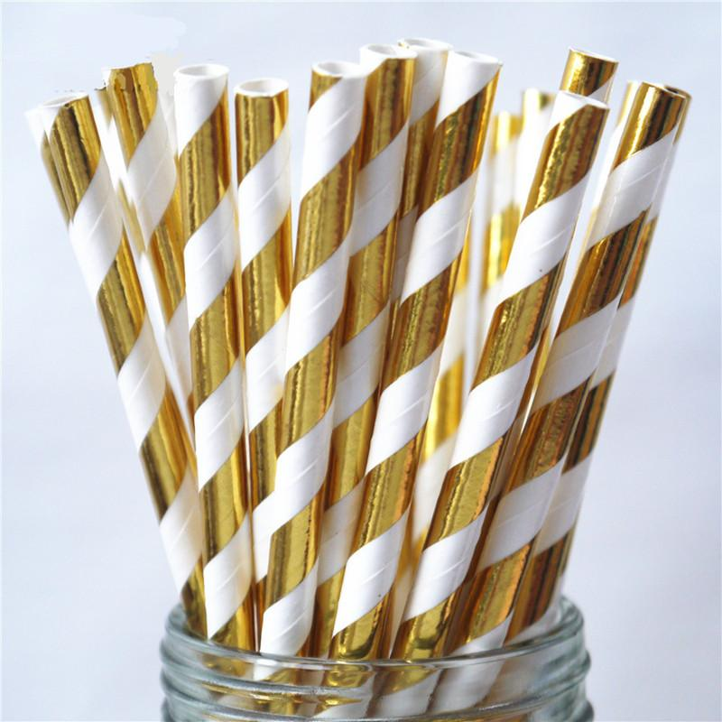 pink stripe gold party tableware paper plates cups napkins drinking straws for birthday baby shower bridal shower party images of drinking straws kids