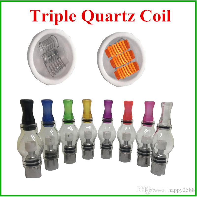 Triple quartz coil for Glass Globe Atomizer as Wax Coils Head Replacement Quartz Coil For Wax Dry Herb Pen Vaporizer