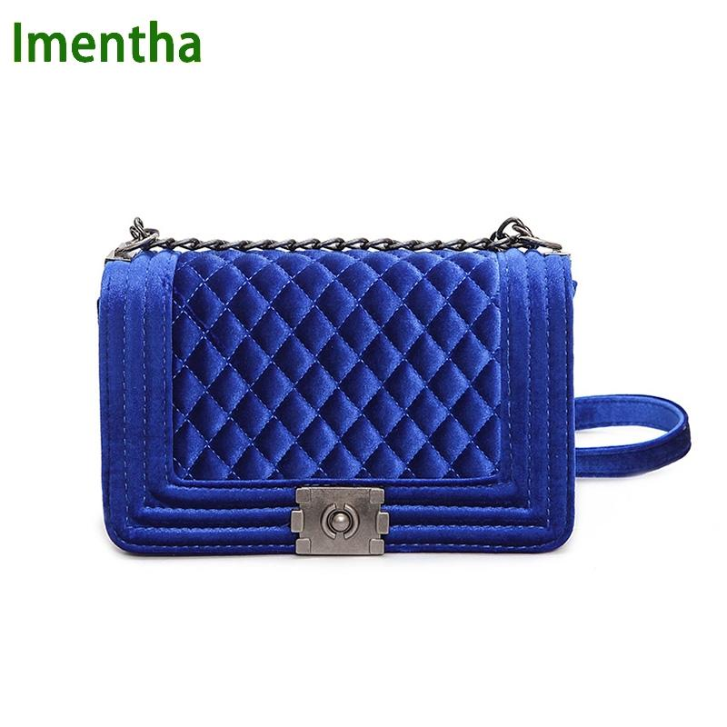 Big Big Handbag Quilted Chain Bag Blue Velvet Women Bags Pochette Sac Femme  Women Shoulder Bags Sac A Main Femme Crossbody Bags Shoulder Bags Handbags  On ... 0f606e4c06e00