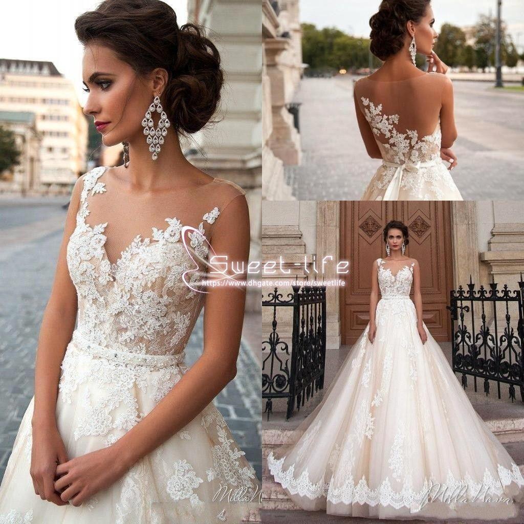 Discount Vintage Arabic Milla Nova 2019 A Line Wedding