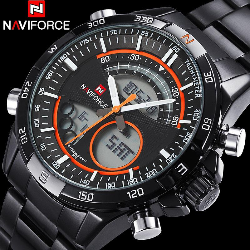 6cca7385a6c11 NAVIFORCE Men Luxury Watches Brand Dual Display Wwatches For Men Digital  Analog Electronic Quartz Watches 30M Waterproof Clock Watches Buy Online  Buying ...