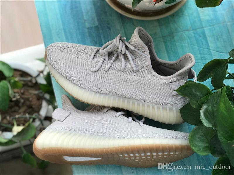 727e4f2c2d2d3 2018 Authentic 350 V2 Sesame Butter Kanye West 2039Yeezy Running ...
