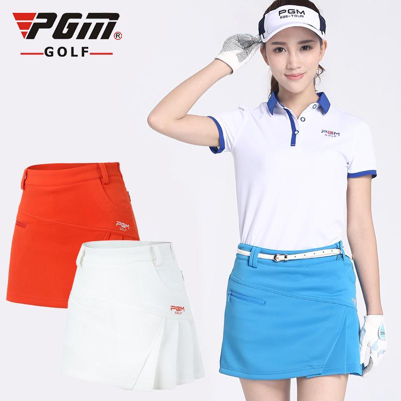 9b8bf898e7 PGM Golf Pleated Skorts For Women Brand Summer Solid Cotton Anti ...