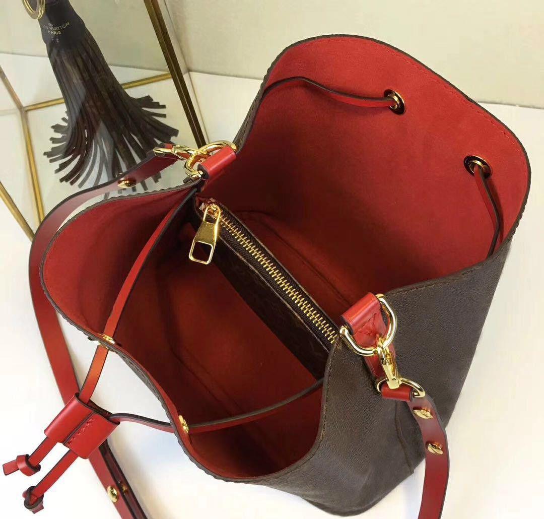 L129 حقائب الكتف نوي الجلود دلو حقيبة المرأة الماركات الشهيرة مصمم حقائب عالية الجودة زهرة الطباعة حقيبة crossbody محفظة M4402