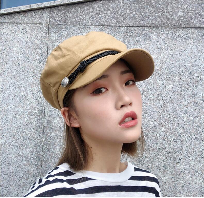 6e7d56418df62 2019 New Korean Fashion Flat Beret Cap For Women Denim Beret Hat Outdoor  Casual Sun Hat Blue Jeans Chapeau Hats Boina All Match From Milknew