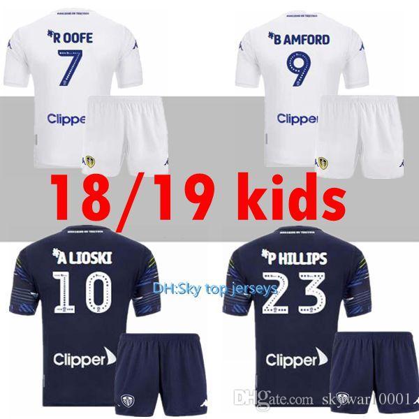 2447a768c 18 19 Leeds United Kids Kits Jerseys 2018 2019 Leeds Home Away Child ...