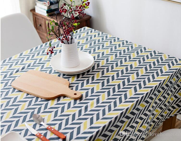Rectangular Cotton Linen Japanese style Washable Tablecloth Vintage Rectangle Dinner Picnic Table Cloth Home Decoration