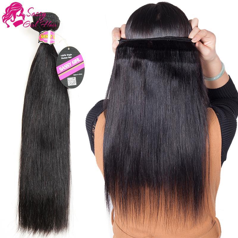 브라질 스트레이트 헤어 익스텐션 의 인간의 머리카락 번들 온라인 저렴한 브라질 버진 헤어 스트레이트와 함께 부드러운 염색 자연 색상